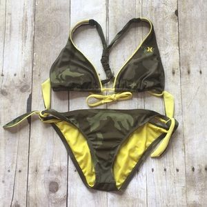 Hurley Camo Two Piece Swimsuit